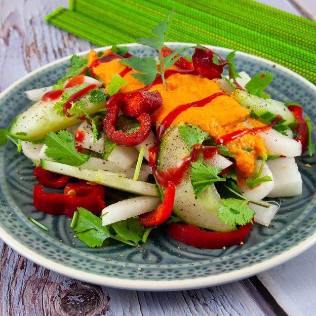 Rezept: Rettich-Gurkensalat mit Koriander