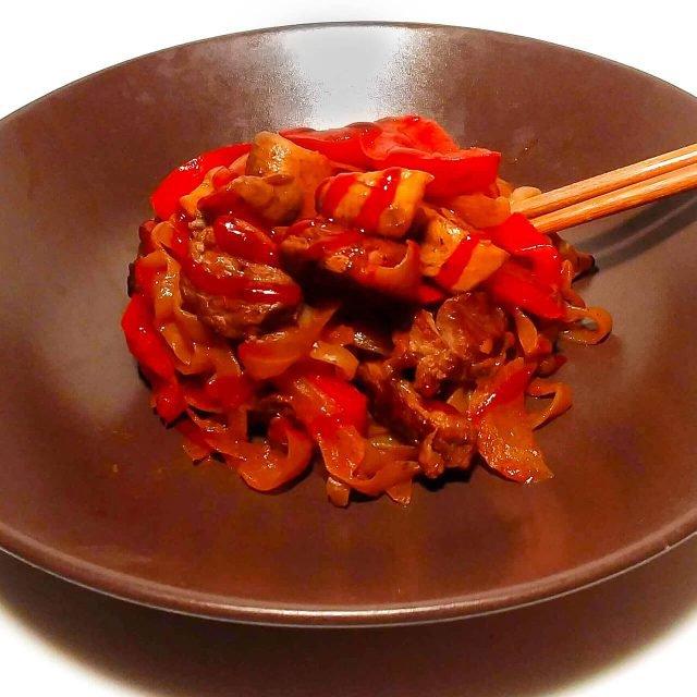 Rezept: Hänchen-Gemüsepfanne mit Shirataki