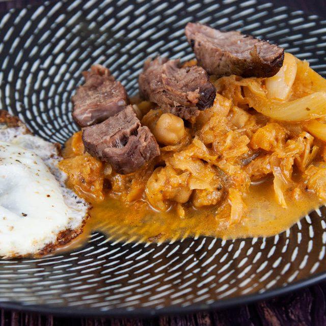 Rezept: Sauerkraut mit Kichererbsen