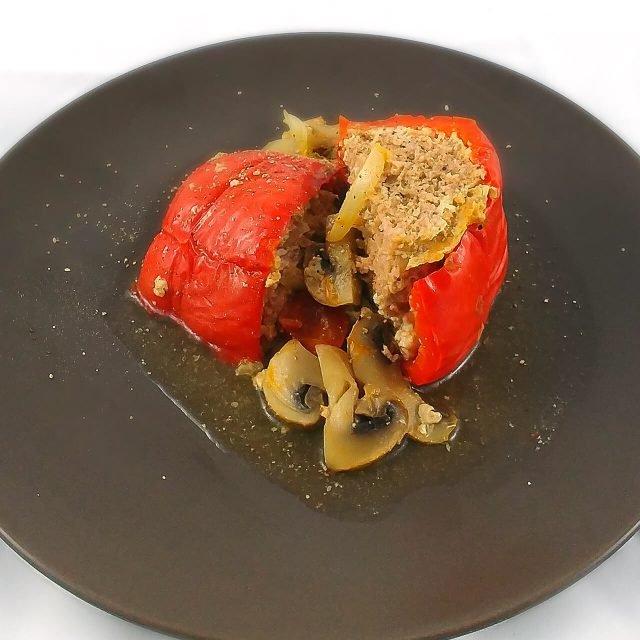 Low Carb Rezept: gefüllte Paprika